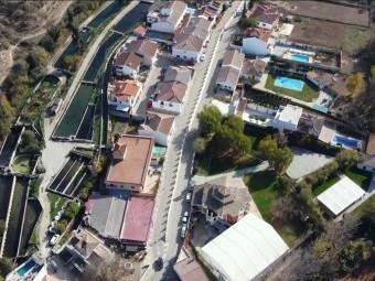 Vista área de la piscifactoría de la empresa Caviar Riofrío. FOTO: C. RIOFRÍO