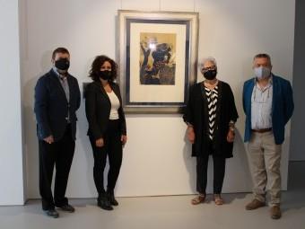 Momento de la presentación de la exposición temporal del Museo de Anita Ávila