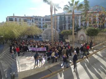 Numeroso público se congregó en repulsa hacia la violencia de género. FOTO: CALMA