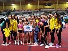 Gimnastas lojeñas que han participado en el Campeonato de España de Vigo.
