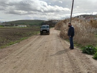 Camino de las Huertas Bajas que ha adecentado el Ayuntamiento. FOTO: EL CORTO