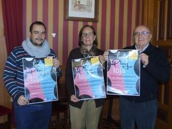 Sánchez, Ortiz y Campos, durante la presentación del 'Long Play Loja'. FOTO: CALMA