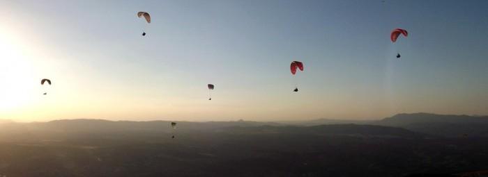 Participantes durante la concentración de vuelo de este fin de semana. FOTO: PACO CASTILLO