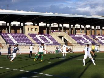Un momento del entrenamiento de la selección andaluza ayer en Loja. FOTO: P. CASTILLO.