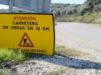 La Junta reanuda las obras de mejora de la carretera de Ventorros. FOTO: JUNTA