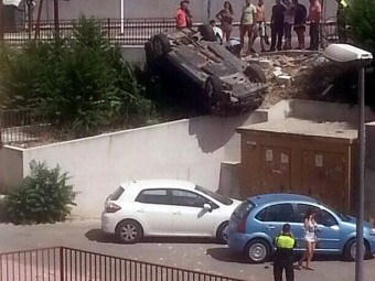 Imagen del accidente capturada por un vecino de la zona.