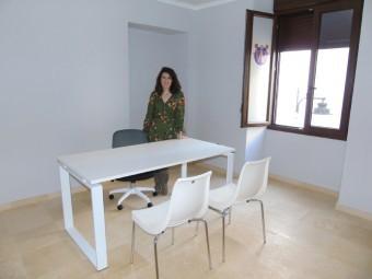 Paloma Gallego, durante el anuncio de la solicitud de las oficinas. FOTO: CALMA