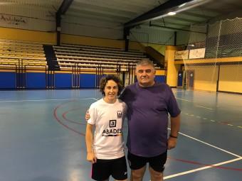 Vero con el presidente del Deportivo Loja, Francisco Delgado