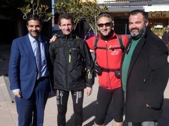 José Antonio y Francisco Javier Lopera junto al alcalde y el concejal de Deportes. P.C.