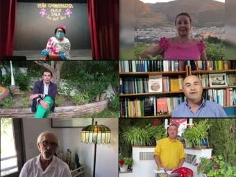 Algunos de los antiguos pregoneros que han participado en el vídeo.