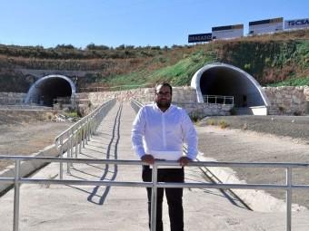 Juan Francisco Mancilla en los túneles de Quejigares.