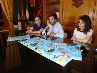 Izquierdo, Camacho y Gallego, durante la presentación del festival. FOTO: CALMA