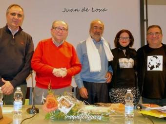 José A. Gómez, José Arenas, A. Ramón Molina, Eugenia Mateo y Juan Mª Jiménez en el acto.