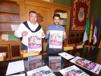 El edil de Deportes y el alcalde presentan los carteles de la Vuelta Solidaria a su paso por Loja