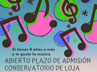 Cartel del Conservatorio de Música que anuncia el plazo de solicitud. FOTO: EL CORTO
