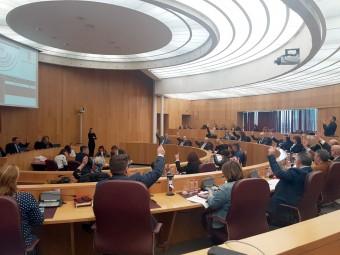 Momento de la votación que designa a la Semana Santa de Loja como Decana de la provincia