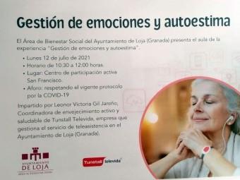 Cartel que anuncia el taller de emociones y autoestima en San Francisco. FOTO: CORTO