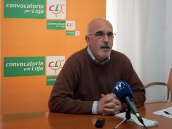 Miguel Martín Velázquez durante la rueda de prensa en la que explicó la postura de CpL