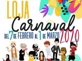 Cartel oficial del Carnaval de Loja 2020