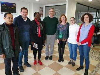 Un momento de la visita de los técnicos de África y Asia al CADE de Loja