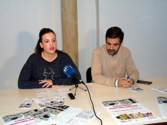 Valenzuela y Camacho, en el transcurso de la rueda de prensa. FOTO: CALMA