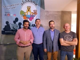 Directivos de Alodane junto al alcalde lojeño durante la presentación. FOTO: P. CASTILLO