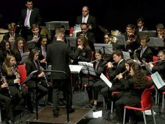 Un instante de la actuación de la Banda de Música de Loja. FOTO: EL CORTO