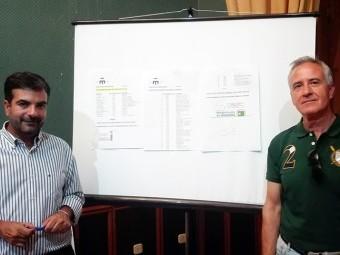 Joaquín Camacho y José Barea presentan las estadísticas sobre rehabilitación de viviendas. FOTO: J.M