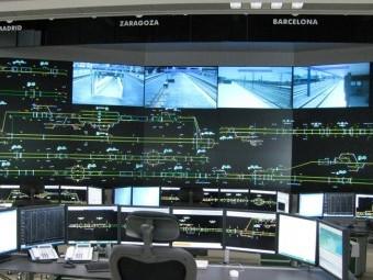 Sala de control de alta velocidad en Zaragoza, con el sistema Da Vinci