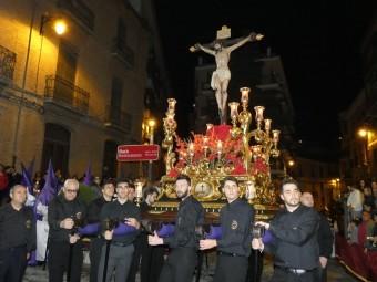 El Cristo de la Salud durante el Viernes Santo lojeño. FOTO: PACO CASTILLO.