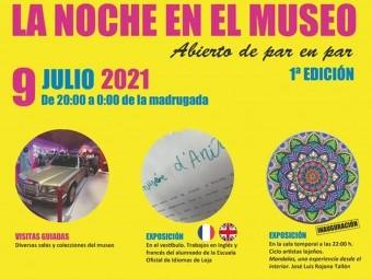 Cartel que anuncia la jornada de puertas abiertas del Museo Anita Avila. FOTO: C. M.
