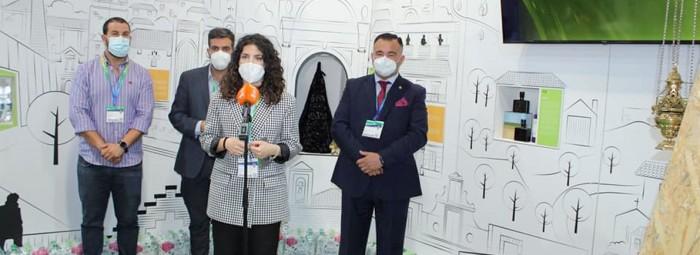 La concejala de Turismo, Paloma Gallego, en la presentación el vídeo. FOTO: C. MOLINA