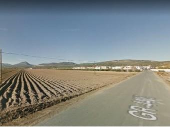 La carretera de la Estación (GR4403) por donde discurre una vía pecuaria. FOTO: GOOGLE