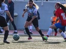 La capitana lojeña Nieves Maroto durante el partido del domingo en Granada.FOTO: JORGE LOZANO