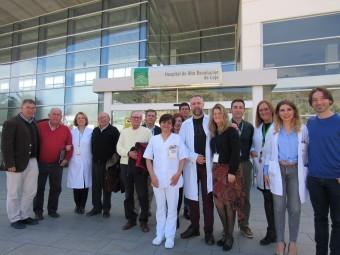 Responsables del hospital y representantes de asociaciones lojeñas que participaron en la reunión