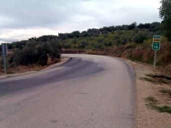 Una de las muchas curvas que tiene la carretera de Ventorros de San José. FOTO: ELCORTO