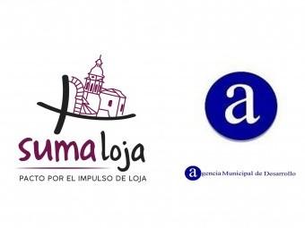 Logos delpacto 'Suma Loja' y de la Agencia de Desarrollo de Loja