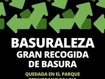 Cartel con el que se anuncia la actividad de 'Basuraleza'. FOTO: EL CORTO
