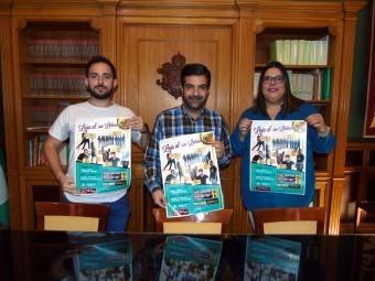 Edukdance, Camacho y Ortiz, durante la presentación del evento. FOTO: CALMA