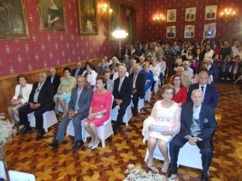 El salón del Plenos del Ayuntamiento acogió el acto de homenaje. FOTO: CALMA