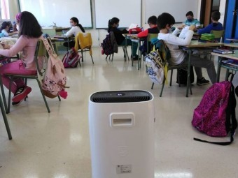 Filtro HEPA en un aula