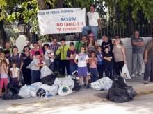 Participantes en la jornada de limpieza del entorno de Riofrío el pasado domingo.