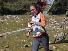 María Jiménez durante la competición