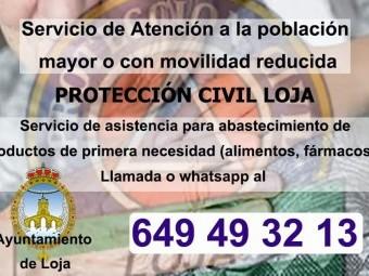 Cartel informativo del servicio que presta Protección Civil de Loja. FOTO: EL CORTO