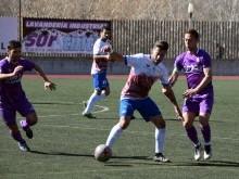 Chico en una acción del partido disputado frente al Real Jaén.