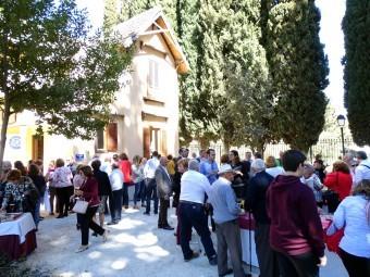 Los vecinos de Riofrío disfrutaron de una comida en Villa Carmen. FOTO: J. AGUILA