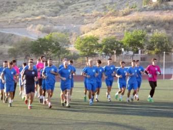 Imagen de archivo del primer entrenamiento del Loja hace dos temporadas. FOTO: P. CASTILLO