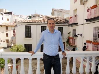 El portavoz y secretario general del PSOE, Gonzalo Vázquez en la Casa del Pueblo.