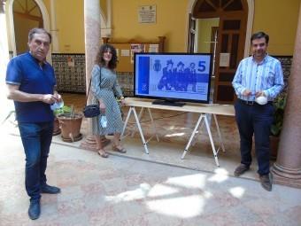 Izquierdo, Gallego y Camacho, durante la presentación del vídeo. FOTO: C. MOLINA