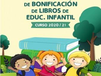 Cartel anunciador de la campaña de bonificación de libros de Infantil. FOTO: EL CORTO
